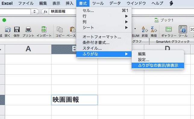 Excel-書式でふりがな表示